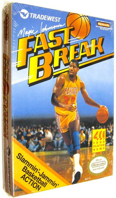 Nintendo NES Magic Johnson's Fast Break Video Game Cartridge [Factory Sealed]