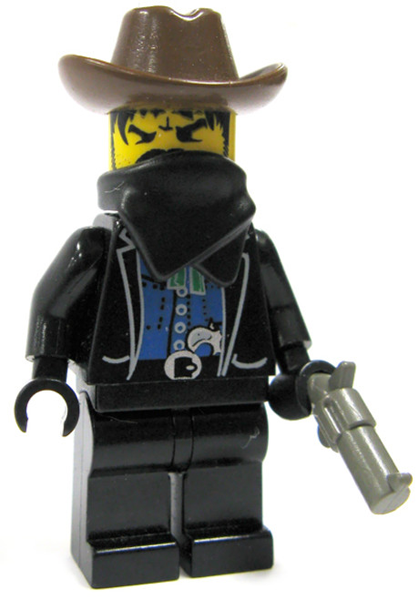 LEGO Loose Bandit Minifigure [Brown Hat, Black Mask & Pistol Loose]