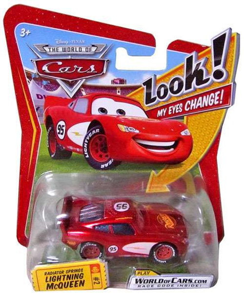 Disney Cars The World of Cars Lenticular Eyes Series 1 Radiator Springs Lightning McQueen Diecast Car