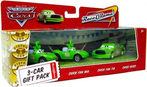 Disney Cars The World of Cars Multi-Packs Chick Hicks 3-Car Gift Pack Diecast Car Set