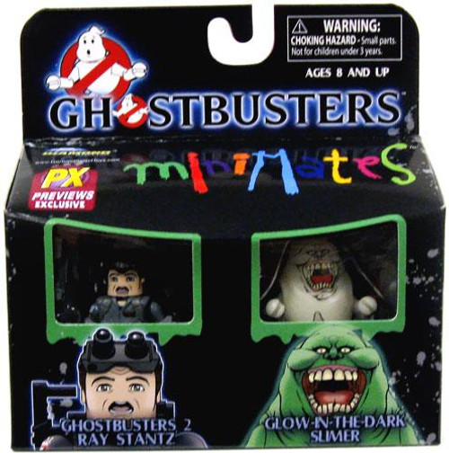 Ghostbusters Minimates Ray Stantz & Glow-in-the-Dark Slimer Exclusive Minifigure 2-Pack