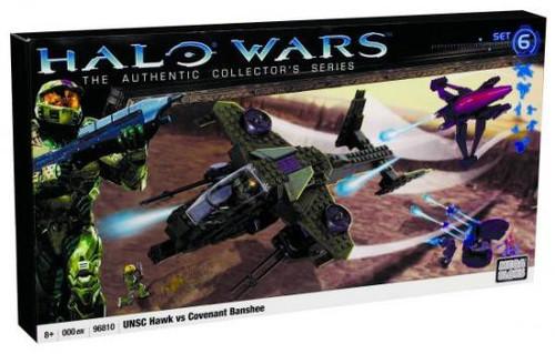 Mega Bloks Halo The Authentic Collector's Series UNSC Hawk vs. Covenant Banshee Set #96810