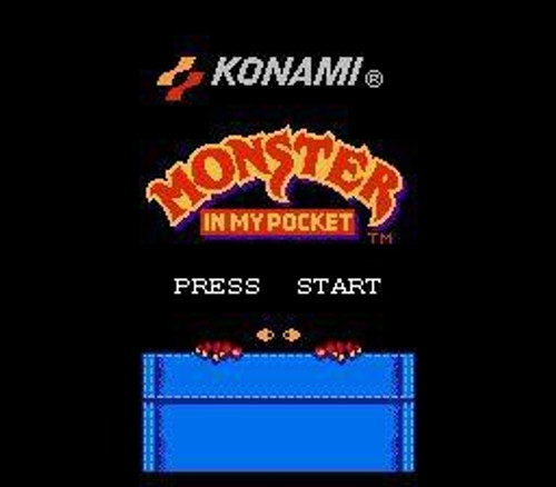 Nintendo NES Monster In My Pocket Video Game Cartridge [Played Condition]