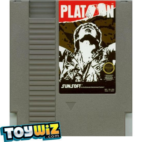 Nintendo NES Platoon with Instructions Video Game Cartridge [Played Condition]