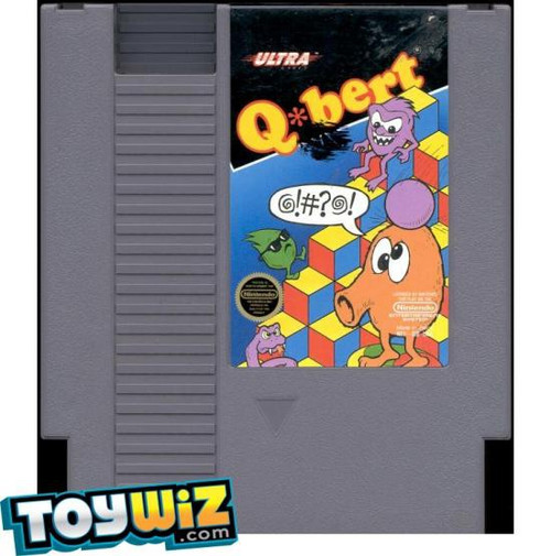 Nintendo NES Q*bert Video Game Cartridge [Played Condition]