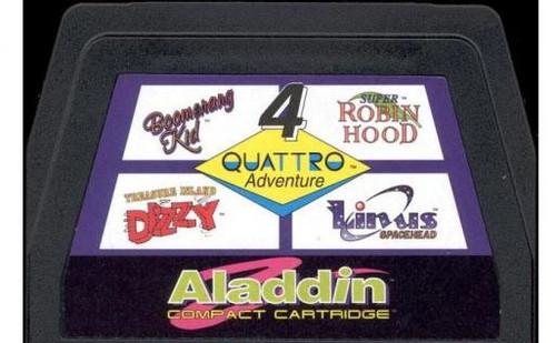 Nintendo NES Quattro Adventure Video Game Cartridge [Played Condition]
