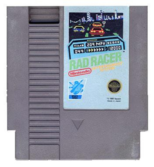 Nintendo NES Rad Racer with Instructions Video Game Cartridge [Played Condition]