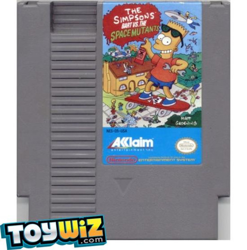 Nintendo NES The Simpsons: Bart vs. the Space Mutants Video Game Cartridge [Played Condition]