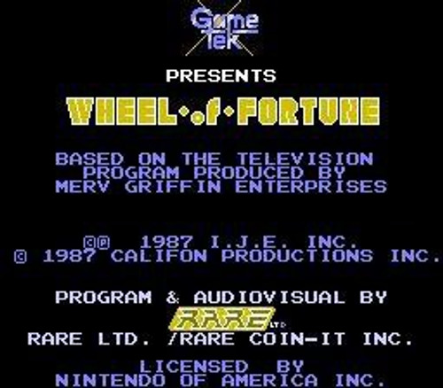 Nintendo NES Wheel of Fortune Video Game Cartridge [Played Condition]