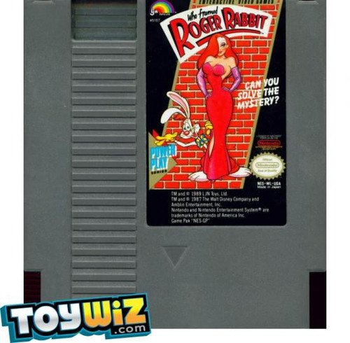 Nintendo NES Who Framed Roger Rabbit with Instructions Video Game Cartridge [Played Condition]