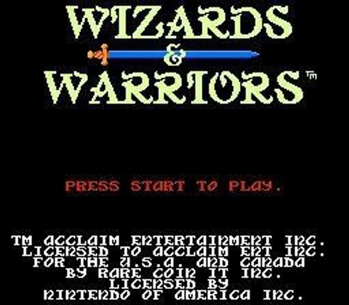 Nintendo NES Wizards & Warriors Video Game Cartridge [Played Condition]