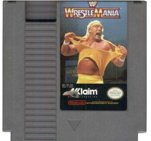 WWE Wrestling NES Played Games WWF Wrestlemania NES Video Game [Used]