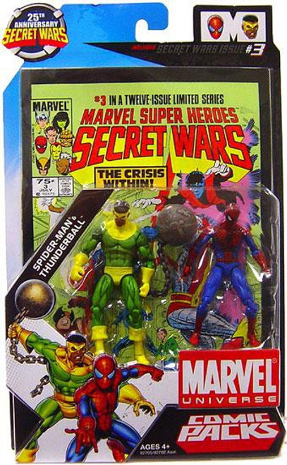 Marvel Universe 25th Anniversary Secret Wars Comic Packs Spider-Man & Thunderball Action Figure 2-Pack #3