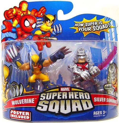 Marvel Super Hero Squad Series 15 Wolverine & Samurai Action Figure 2-Pack