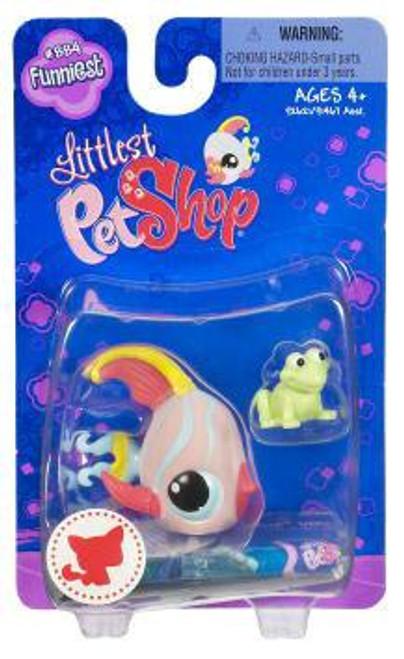 Littlest Pet Shop Angelfish Figure #884 [Frog Toy]