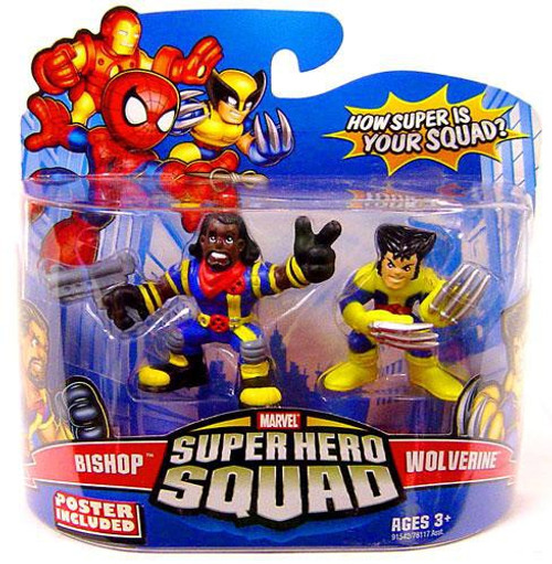 Marvel Super Hero Squad Series 14 Wolverine & Bishop Action Figure 2-Pack