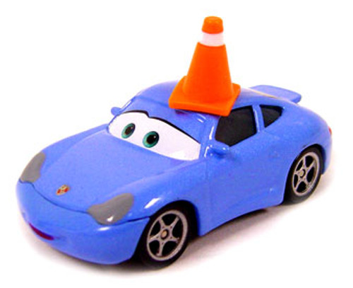 Disney Cars Loose Sally with Cone Diecast Car [Loose (No Package)]