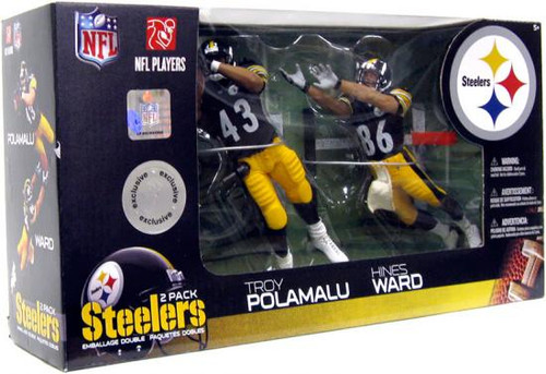 McFarlane Toys NFL Pittsburgh Steelers Sports Picks 2-Packs Hines Ward & Troy Polamalu Exclusive Action Figure 2-Pack