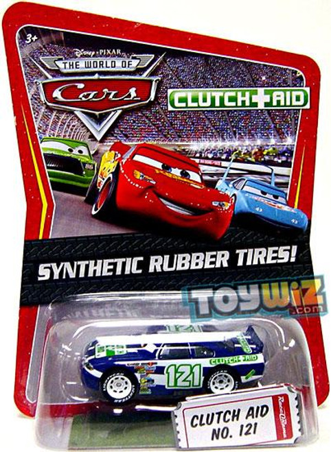 Disney Cars The World of Cars Synthetic Rubber Tires Clutch Aid No. 121 Exclusive Diecast Car