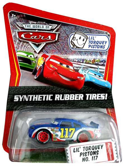 Disney Cars The World of Cars Synthetic Rubber Tires Lil' Torquey Pistons No. 117 Exclusive Diecast Car