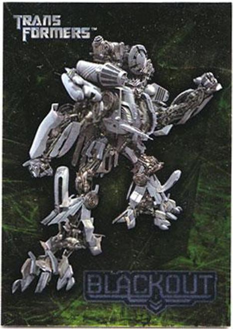 Transformers Movie Embossed Foil Blackout #1/10