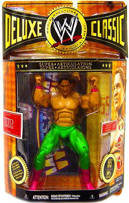 WWE Wrestling Deluxe Classic Superstars Series 7 Tito Santana Exclusive Action Figure