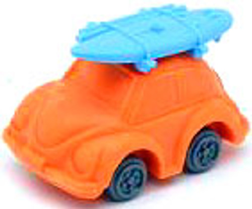 Iwako Beetle Car Eraser [Orange Car & Blue Surfboard]