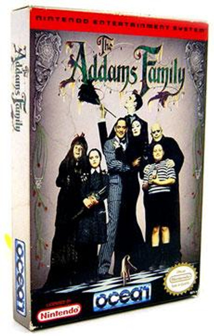 Nintendo NES Addams Family Video Game Cartridge [Opened, Complete]