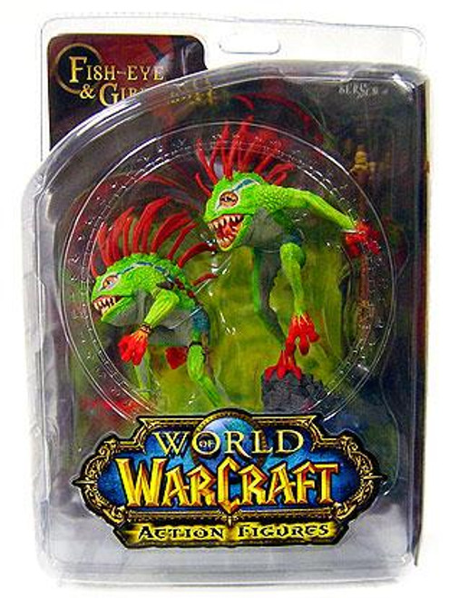 World of Warcraft Series 4 Fish-Eye & Gibbergil Murloc Action Figure 2-Pack [Both Green]