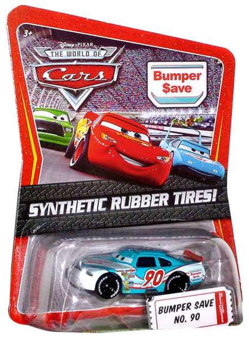 Disney Cars The World of Cars Synthetic Rubber Tires Bumper Save No. 90 Exclusive Diecast Car