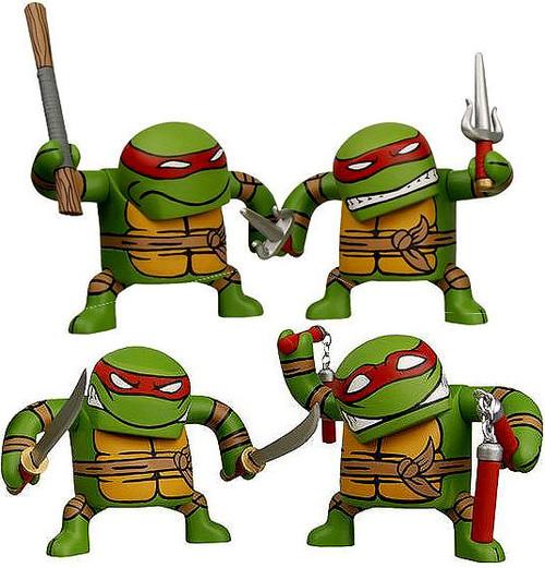 NECA Teenage Mutant Ninja Turtles Mirage Comic Batsu Raphael, Donatello, Leonardo & Michaelangelo 5-Inch Vinyl Figure Set