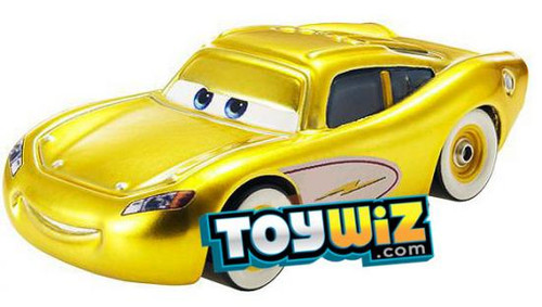 Disney Cars Loose Exclusive Gold Ransburg Lightning McQueen Exclusive Diecast Car [Loose]