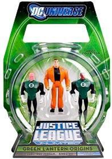 Justice League Unlimited Green Lantern Origins Exclusive Action Figure 3-Pack