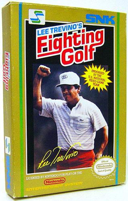 Nintendo NES Lee Trevino's Fighting Golf Video Game Cartridge [Complete, Opened]