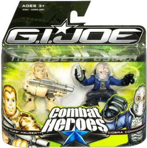 GI Joe The Rise of Cobra Combat Heroes Conrad Duke Hauser & Cobra Commander Mini Figure 2-Pack