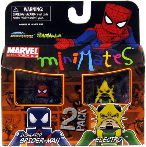 Marvel Universe Minimates Series 30 Electro & Insulated Spidey Minifigure 2-Pack