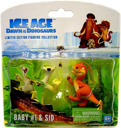 Ice Age Dawn of the Dinosaurs Limited Edition Figurine Collection Baby #1 & Sid Mini Figure 2-Pack #1 [Loose]