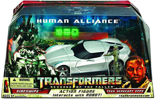 Transformers Revenge of the Fallen Human Alliance Sideswipe with Tech Sergeant Epps Action Figure Set