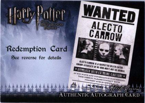Harry Potter The Half Blood Prince Suzanne Toase as Alecto Carrow Autograph Card