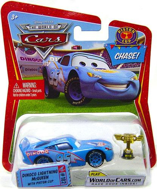 Disney Cars The World of Cars Series 1 Dinoco Lightning McQueen with Piston Cup Trophy Diecast Car