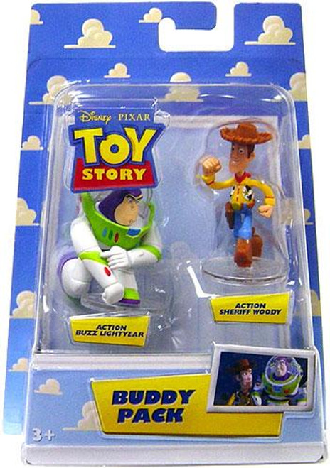 Toy Story Buddy Pack Action Buzz Lightyear & Action Sheriff Woody Mini Figure 2-Pack