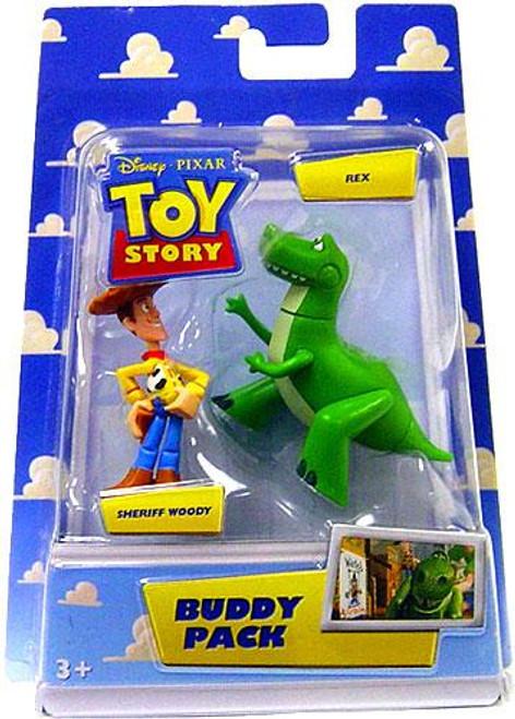 Toy Story Buddy Pack Sheriff Woody & Rex Mini Figure 2-Pack