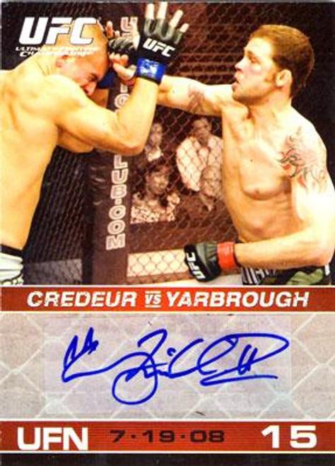 UFC 2009 Round 1 Tim Credeur Autograph Card A-TC