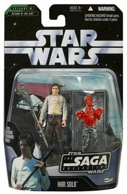 Star Wars Return of the Jedi Saga Collection 2006 Han Solo Action Figure #02 [With Carbonite Block]