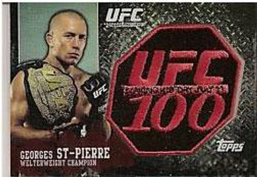 UFC 100 Patch Cards Georges St Pierre Exclusive