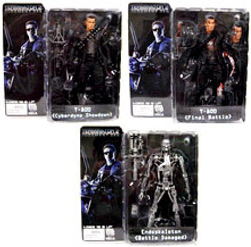 NECA The Terminator Terminator 2 Judgment Day Terminator 2 Series 2 Set of 3 Action Figures