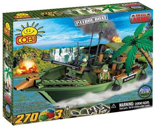 COBI Blocks Small Army Patrol Boat Set #2370