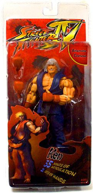 NECA Street Fighter IV Player Select Ken Action Figure [Survival Mode]