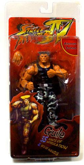 NECA Street Fighter IV Player Select Guile Action Figure [Survival Mode]