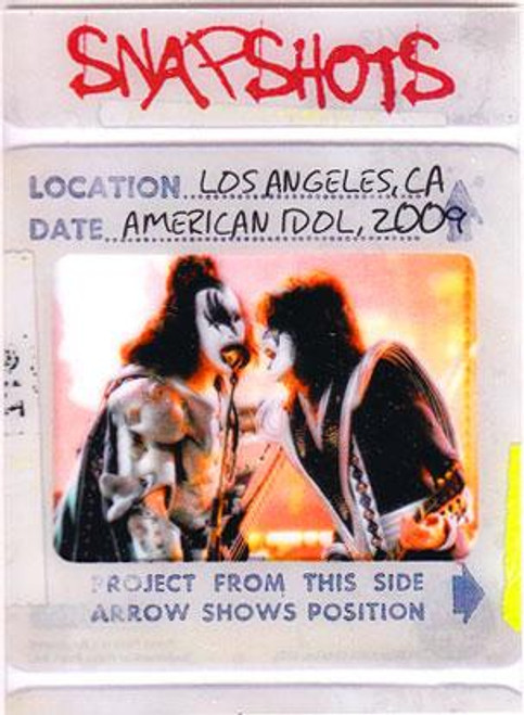 KISS 360 Degrees Snapshots Card Los Angeles, CA American Idol 2009 #12/12